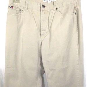 Tommy Hilfiger Khaki Chino Capri Flat Front Pants